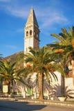 St. Nicholas Church in Perast-Stadt, Montenegro Lizenzfreies Stockfoto