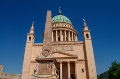 St. Nicholas Church in Potsdam, Duitsland Stock Foto's