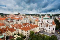 St Nicholas Church, Praag, Tsjechische Republiek stock foto