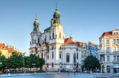 St. Nicholas Church in Prag, Tschechische Republik Stockbild