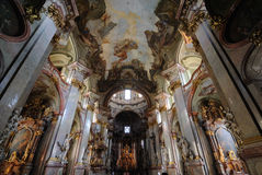 St. Nicholas Church in Prague Stock Image