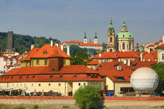 St. Nicholas Church, Prague Castle, Lesser Town, Moldau, Vltava, Prague, Czech Republic Stock Image