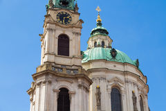 St. Nicholas Church. Prague Stock Images
