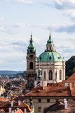 St. Nicholas Church in Prague, Czech Republic stock images