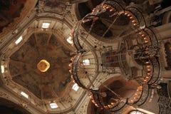 St. Nicholas Church, Prague, Tjeckien arkivbild