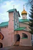 St. Nicholas Church of the Pskov-caves monastery. The City Of Pechora. Russia. St. Nicholas Church of the Pskov-caves monastery Royalty Free Stock Images
