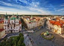 St Nicholas Church, quadrato di Città Vecchia a Praga Fotografia Stock Libera da Diritti
