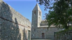 St Nicholas Church in Sestri Levante, Italië stock videobeelden