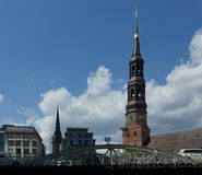 St. Nicholas Church and St. Michaelis Church in Hamburg - Germany - Europa Royalty Free Stock Photography
