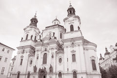St Nicholas Church in Stare Mesto Neighborhood; Prague Royalty Free Stock Photography