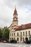 St. Nicholas Church, Street Didzioji, Vilnius Stock Photos