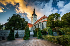 St. Nicholas' Church at sunset, in the Old Town, Tallinn, Esto Stock Images