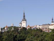 St Nicholas Church in Tallinn. Cityscape of Tallin, capital of Estonia, Baltic Republic Royalty Free Stock Image
