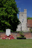 St Nicholas Church, Tillingham, Essex. With war memorial Stock Photography