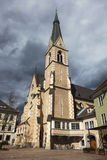 St. Nicholas Church in Villach Stock Photo