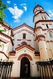St. Nicholas Church in Vilnius Stock Photo