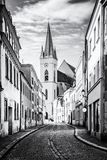 St. Nicholas` church, Znojmo, colorless Royalty Free Stock Photography