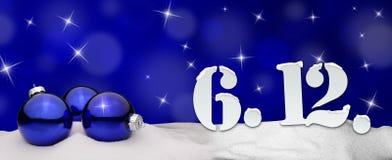 St Nicholas Day December 06 - azul Fotografía de archivo