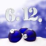 St. Nicholas Day December 06 - Blau Lizenzfreie Stockfotografie