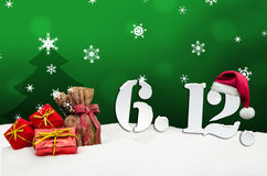 St. Nicholas Day December 06 - Grün Lizenzfreie Stockfotos