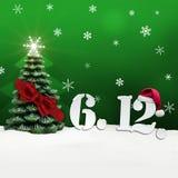 St. Nicholas Day December 06 - Grün Stockbild
