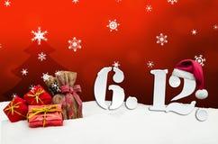 St Nicholas Day December 06 - rosso Fotografia Stock Libera da Diritti