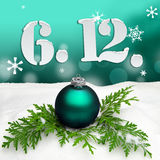 St. Nicholas Day December 06 - Türkis Lizenzfreies Stockbild