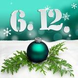 St Nicholas Day December 06 - turquesa Imagen de archivo libre de regalías