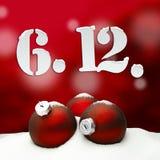 St Nicholas Day December 06 - vermelho Ilustração Stock