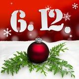 St Nicholas Day December 06 - vermelho Ilustração Royalty Free