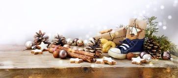 St Nicholas Day, tedesco Nikolaus, ampio formato panoramico con il ki fotografia stock