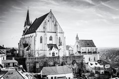 St. Nicholas` Deanery church, Znojmo, colorless Royalty Free Stock Images