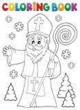 St Nicholas för färgläggningbok ämne 1 royaltyfri illustrationer