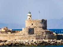 St Nicholas Fortress Rodi - in Grecia Fotografia Stock Libera da Diritti