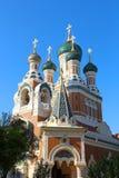 St Nicholas katedra, Ładna, Francja Obrazy Royalty Free