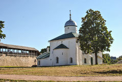 St Nicholas katedra w Izborsk forteczny Pskov Rosja Obrazy Royalty Free