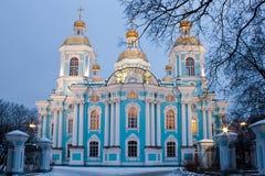 St. Nicholas kathedraal in heilige-Petersburg stock afbeeldingen