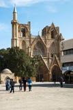 St.Nicholas Kathedraal omgezet in Pasha van Lala Mustafa moskee Stock Foto's