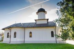 St Nicholas kościół, Draganescu, Rumunia Zdjęcia Stock