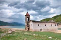 St Nicholas kościół, Mavrovo jezioro, Macedonia fotografia royalty free