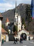 St Nicholas kościół w Brasov Schei okręgu Obrazy Royalty Free
