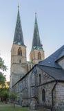 St Nicholas kyrka i Quedlinburg, Tyskland royaltyfri bild