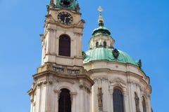 St Nicholas kyrka Prague Arkivbilder