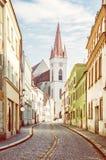St Nicholas `-kyrka, Znojmo, tjeck royaltyfria foton