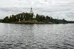 St Nicholas monaster - placówka wyspa Valaam fotografia stock