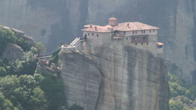 St. Nicholas Monastery in Meteora, Greece stock video