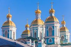 St Nicholas Morska katedra, Petersburg, Rosja fotografia stock