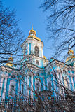 St Nicholas Naval Cathedral em St Petersburg Foto de Stock Royalty Free
