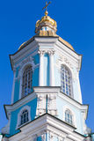 St Nicholas Naval Cathedral i St Petersburg arkivbilder