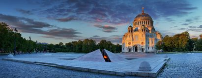 St. Nicholas Naval Cathedral In Kronstadt Royalty Free Stock Image